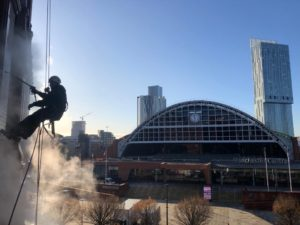 Steam Cleaning the Midland Hotel, Manchester