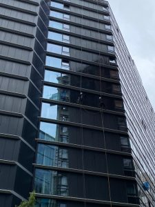 Cladding Clean at City Suites, Manchester